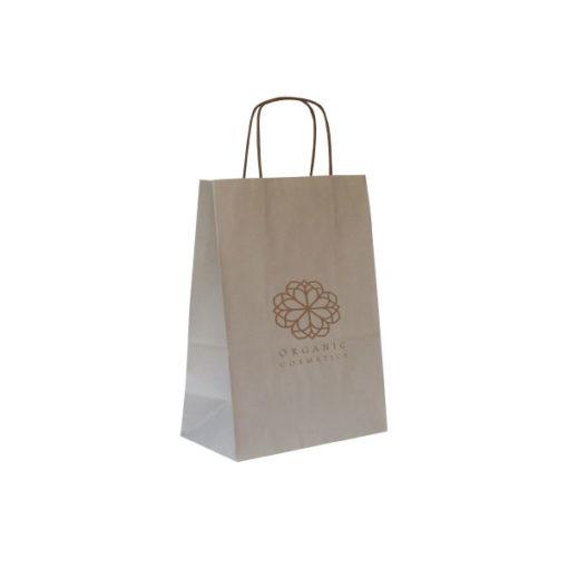 Shopper Kraft Bianco Tortora