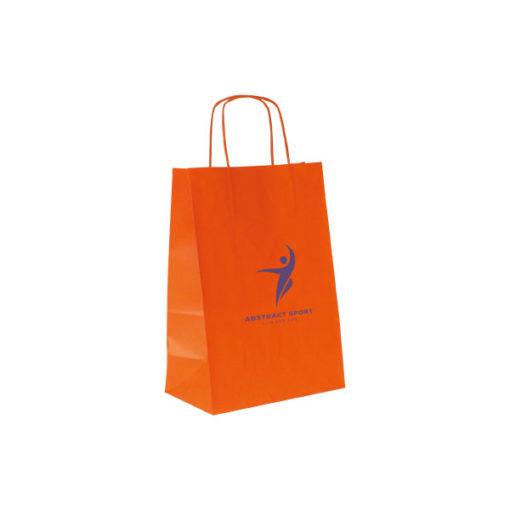 Shopper Kraft Bianco Arancione