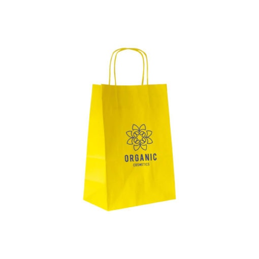 Shopper Kraft Bianco Giallo