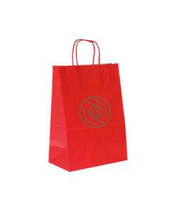 Shopper Kraft Bianco Rosso